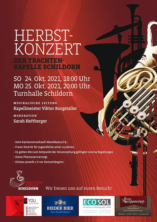Herbstkonzert Trachtenkapelle Schildorn 2021